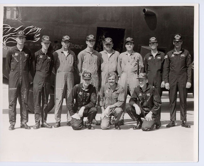 Ubon crew - MSgt Bill Cotton - Back row, 5th from left