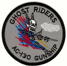 Embroidered military patch usaf air force ac-130 spectre gunship.